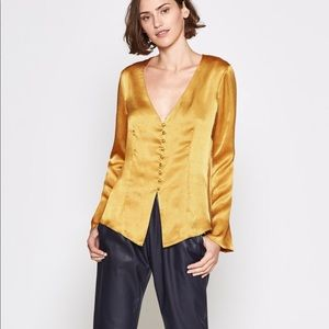 Joie Madora Top in Dusty Gold size XS